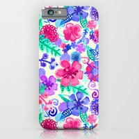 Fresh Watercolor Floral Pattern iPhone & iPod Case by Tangerine-Tane
