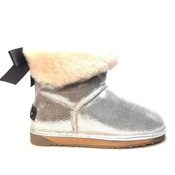 Echo L California Silver Ankle Boot