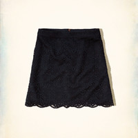 Lace A-Line Skirt