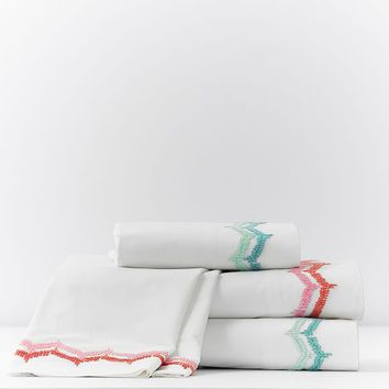 Embroidered Cuff Sheet Set