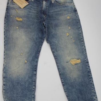 DENIM SUPPLY RALPH LAUREN DISTRESSED BOYFRIEND JEANS, DE DELMHORST 28