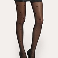 ASOS Heart Sheer Tights at asos.com
