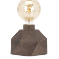 IMAX Novel Velocity Wood Table Lamp with Edison Bulb