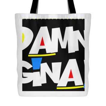 Damn Gina! Tote Bag, 18 inches x 18 inches