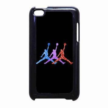 VONR3I Michael Jordan Retro 7 Raptors Logo Glitter Sparkly FOR IPOD TOUCH 4 CASE *PS*