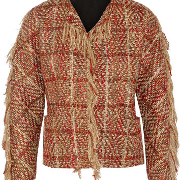 Maiyet - Fringed bouclé-tweed jacket