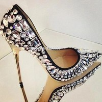 Bling Bling Glittering Official Dress Pumps