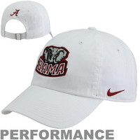 Nike Alabama Crimson Tide Mascot Heritage 86 Adjustable Performance Hat - White