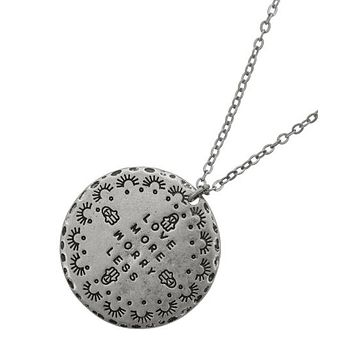 Love More Worry Less Necklace