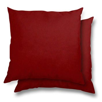 "Stratford Home Indoor/Outoor Solid Color 17""x17"" Toss Pillows, Lipstick"