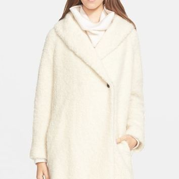 Women's Vince Fuzzy Knit Boucle Coat,