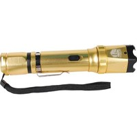 Gold 18,000,000 volt Stun Gun Zoomable Flashlight
