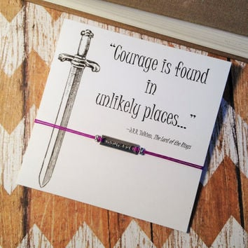 Courage Charm Bracelet | Lord of the Rings Inspired | Tolkien Quote