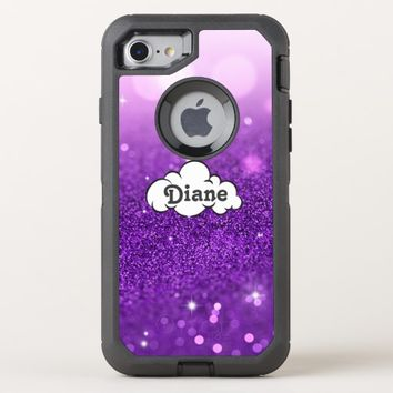 Purple Glitter OtterBox Defender iPhone 8/7 Case