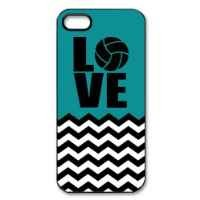 Volleyball Logo Blue-green Case Cover Fashion Shell Protector for iPhone 5