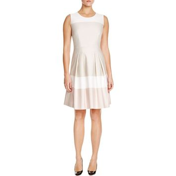 Hugo Boss Womens Hinawa Striped Shift Party Dress