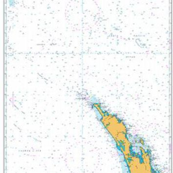 British Admiralty Nautical Chart 4641: South Pacific Ocean, Australia and New Zealand, Norfolk Island to Cape Egmont