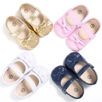 0-18 Months Infant Baby Girls Bow Princess Crib Shoes Casual Sneakers Prewalkers