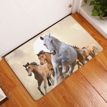 Autumn Fall welcome door mat doormat Smiry 40*60cm Nordic Animals Waterproof Decorative Welcome Stair Mats Wild Horse Carpets Anti Slip Living Room Entrance  AT_76_7