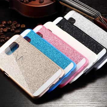 Diamond Glitter Bling PC Capa Fundas Case for Samsung Galaxy A3 A5 A7 2016 J1 J3 J5 J7 Grand Prime S3 S4 S5 S6 S7 Edge Plus