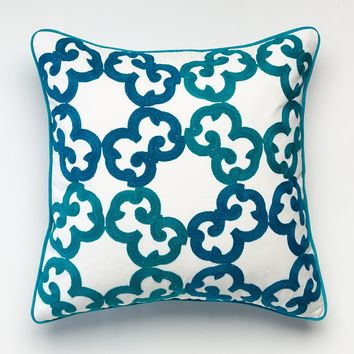 Happy Chic by Jonathan Adler Samantha Circles Throw Pillow (Blue)