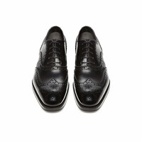 EDWARD LEATHER FRENCH BROGUE WINGTIP LACE-UP