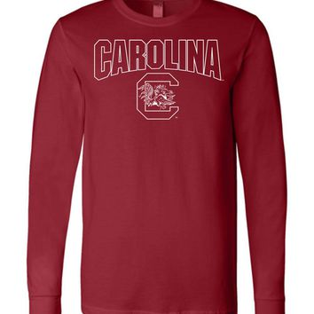 Official NCAA University of South Carolina Fighting Gamecocks USC COCKY SC Long Sleeve T-Shirt - SC001