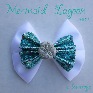 mermaid lagoon mini hair bow