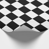 Black And White Checked Wrapping Paper
