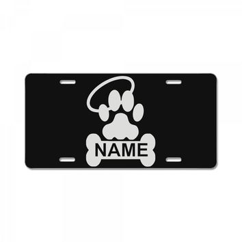 personalized paw halo License Plate
