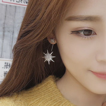 Korean Rhinestone Earrings [10399363540]