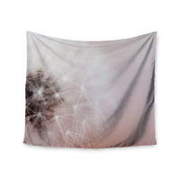 """Chelsea Victoria """"Dandelion Dreams"""" Floral White Wall Tapestry"""