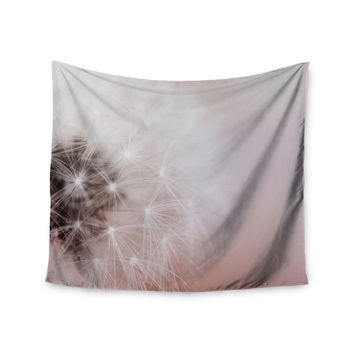 "Chelsea Victoria ""Dandelion Dreams"" Floral White Wall Tapestry"