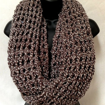 The Gentleman's Crochet Infinity Scarf: Rugged