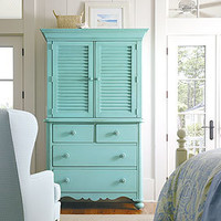 Coastal Living Seaside Media Center in Choice of Color - Armoires & Media - Accent Furniture - Furniture - PoshLiving