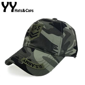 US Army Baseball Cap Men Fitted Thicker Hat Embroidery Camo Snapback Caps Women Casual Hats Leisure Sunhats Gorra beisbol Y17186