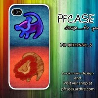 Twin lion king with aztec Case For Iphone 44s 5 Samsung S2S3S4 by pfcase on Zibbet