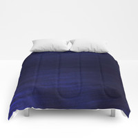 Dark Navy Smooth Silk Comforters by kasseggs