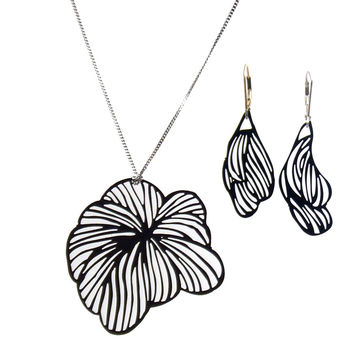 Pansy Pop-Out Jewelry Set