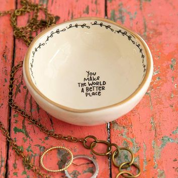 Make the World a Better Place Trinket Dish