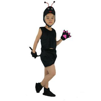 PEAPON 2017 Fashion Kids Children Short Animal Ant Costume Stage Perfromance Cosplay Clothes Halloween Birthday Fancy Dress Decoration