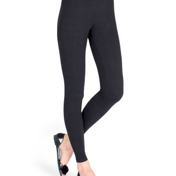 High Waisted Cotton Gym Running Leggings