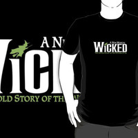 a new musical wicked logo black t-shirt