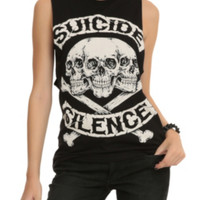 Suicide Silence Skull 'N' Crossbones Girls Muscle Top