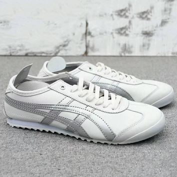 Asics Gel Lyte Onitsuka Tiger Women Men Running Sport Casual Shoes Sneakers White+sliver G A0 Hxydxpf