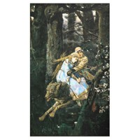 Wild Timber Wolf Carrying Girl Banner