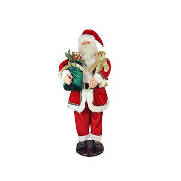5' Deluxe Traditonal Animated and Musical Dancing Santa Claus Christmas Figure