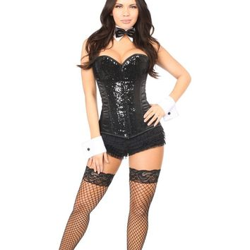 Daisy Top Drawer 5 PC Sequin Bunny Corset Costume