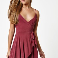 LA Hearts Cupro Wrap Dress at PacSun.com