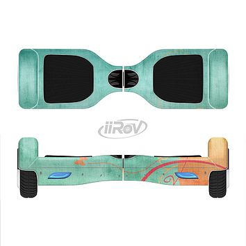 The Vintage Green Grunge Texture with Orange Full-Body Skin Set for the Smart Drifting SuperCharged iiRov HoverBoard
